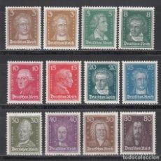 Sellos: ALEMANIA IMPERIO, 1926-27 YVERT Nº 379 / 389 /*/. Lote 235587335
