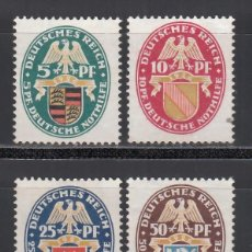 Sellos: ALEMANIA IMPERIO, 1926 YVERT Nº 390 / 393 /*/. Lote 235588155