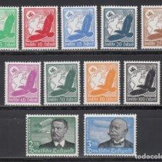 Sellos: ALEMANIA IMPERIO, AÉREOS. 1934 YVERT Nº 43 / 53 /*/. Lote 235591505