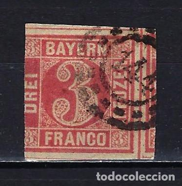 1862 ALEMANIA ESTADOS BAYERN-BAVIERA MICHEL 9 YVERT 10 USADO (Sellos - Extranjero - Europa - Alemania)