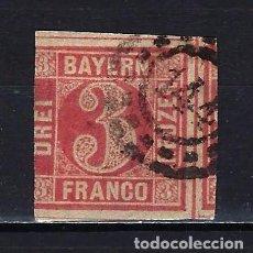 Francobolli: 1862 ALEMANIA ESTADOS BAYERN-BAVIERA MICHEL 9 YVERT 10 USADO. Lote 235718765