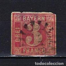 Francobolli: 1862 ALEMANIA ESTADOS BAYERN-BAVIERA MICHEL 9 YVERT 10 USADO. Lote 235718860