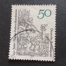 Sellos: SELLO ALEMÁN, DEUTSCHE BUNDESPOST 50 450 FABRE MATIN LUTHERS RATECHISMEN 1979. Lote 235877955