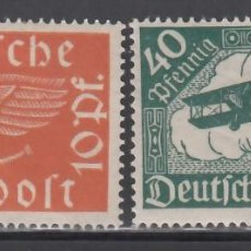Sellos: ALEMANIA IMPERIO, AÉREOS, 1919 YVERT Nº 1 / 2 /*/,. Lote 236625720