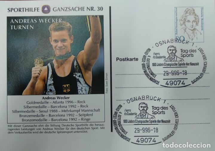 ALEMANIA 1996. SPORTHILFE GANZSACHE NR.30 (Sellos - Extranjero - Europa - Alemania)