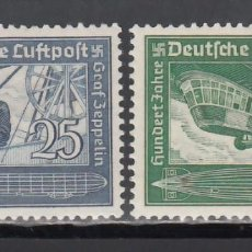 Sellos: ALEMANIA IMPERIO, AÉREOS, 1936 YVERT Nº 57 / 58 /*/. Lote 236634920