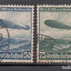 Sellos: ALEMANIA IMPERIO, AÉREOS, 1936 YVERT Nº 55 / 56. Lote 236635665