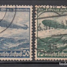 Sellos: ALEMANIA IMPERIO, AÉREOS, 1936 YVERT Nº 55 / 56. Lote 236635795