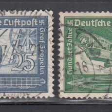 Sellos: ALEMANIA IMPERIO, AÉREOS, 1938 YVERT Nº 57 / 58. Lote 236635915