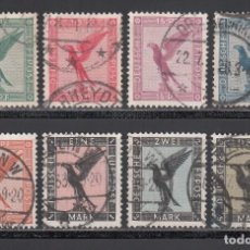 Sellos: ALEMANIA IMPERIO, AÉREOS, 1926-27 YVERT Nº 27 / 34. Lote 236637830