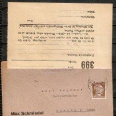 Sellos: ALEMANIA IMPERIO. 1945. MI 782. CON ADJUNTO DOCUMENTO COMERCIAL.. Lote 237333805