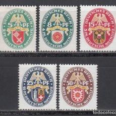 Selos: ALEMANIA IMPERIO, 1929 YVERT Nº 421 / 425 /*/. Lote 238670200