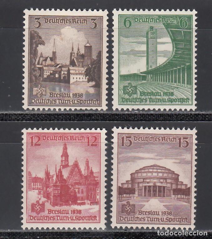 ALEMANIA IMPERIO, 1938 YVERT Nº 608 / 611 /**/, SIN FIJASELLOS (Sellos - Extranjero - Europa - Alemania)