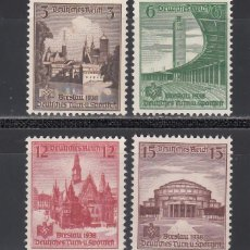 Francobolli: ALEMANIA IMPERIO, 1938 YVERT Nº 608 / 611 /**/, SIN FIJASELLOS. Lote 239517865