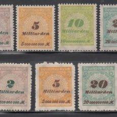 Selos: ALEMANIA IMPERIO, 1923 YVERT Nº 320 / 330 /*/. Lote 241306300