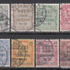 Sellos: ALEMANIA IMPERIO, SERVICIO. 1903 YVERT Nº 1 / 8. Lote 241473615