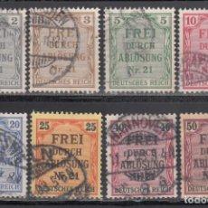 Sellos: ALEMANIA IMPERIO, SERVICIO. 1903 YVERT Nº 1 / 8. Lote 241473695