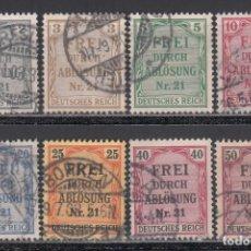 Sellos: ALEMANIA IMPERIO, SERVICIO. 1903 YVERT Nº 1 / 8. Lote 241473915
