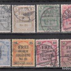 Sellos: ALEMANIA IMPERIO, SERVICIO. 1903 YVERT Nº 1 / 8. Lote 241474020