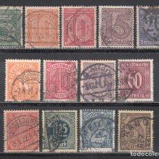 Sellos: ALEMANIA IMPERIO, SERVICIO. 1920-22 YVERT Nº 16 / 28. Lote 241475655