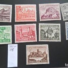 Sellos: 1939 MI 730-738 NUEVOS MARCA FIJASELLOS. Lote 241748795