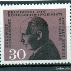 Sellos: ALEMANIA / GERMANY / SELLO AÑO 1968 YVERT NR. 402 NUEVO. Lote 243654425