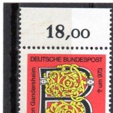 Sellos: ALEMANIA / GERMANY / SELLO AÑO 1973 YVERT NR. 620 NUEVO. Lote 243657335