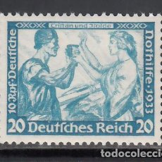Sellos: ALEMANIA IMPERIO, 1933 YVERT Nº 476 /*/. Lote 243659945
