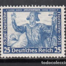 Sellos: ALEMANIA IMPERIO, 1933 YVERT Nº 477 /*/. Lote 243660015