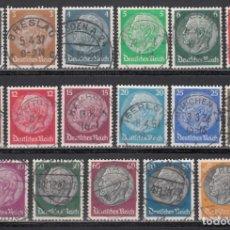 Sellos: ALEMANIA IMPERIO, 1933 YVERT Nº 483 / 498. Lote 243803385