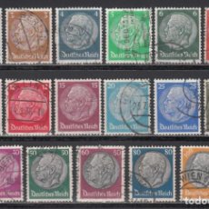 Sellos: ALEMANIA IMPERIO, 1933-36 YVERT Nº 483 / 498. Lote 243807150