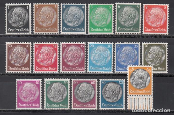 ALEMANIA IMPERIO, 1933-36 YVERT Nº 483 / 498 /*/ (Sellos - Extranjero - Europa - Alemania)