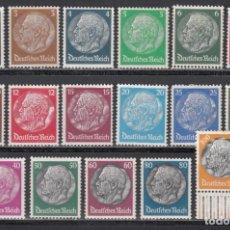 Sellos: ALEMANIA IMPERIO, 1933-36 YVERT Nº 483 / 498 /*/. Lote 243815905