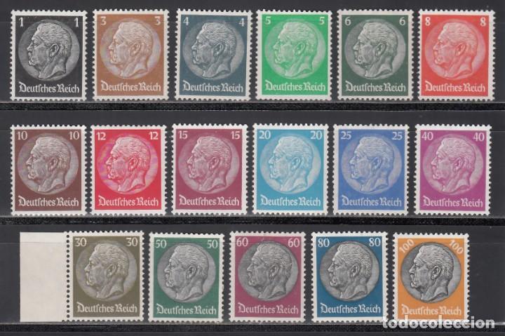 ALEMANIA IMPERIO 1933-36 YVERT Nº 483 / 498 /**/, SIN FIJASELLOS (Sellos - Extranjero - Europa - Alemania)