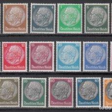 Sellos: ALEMANIA IMPERIO 1933-36 YVERT Nº 483 / 498 /**/, SIN FIJASELLOS. Lote 243859770