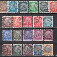 Sellos: ALEMANIA IMPERIO 1932-33 YVERT Nº 441 / 461. Lote 243877495
