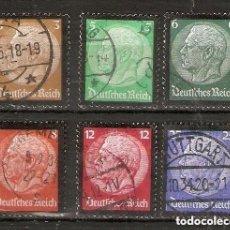 Sellos: ALEMANIA IMPERIO. 1934. YT 503/508. LUTO HINDENBURG. Lote 244495305