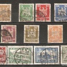 Sellos: ALEMANIA IMPERIO.1924. YT 348/358.SERIE COMPLETA. Lote 244496400