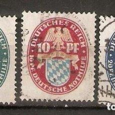 Sellos: ALEMANIA IMPERIO.1925. YT 368/370. BENEFICENCIA. Lote 244496865