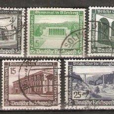 Sellos: ALEMANIA IMPERIO.1936. YT 582/590. Lote 244497075