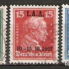 Sellos: ALEMANIA IMPERIO.1927. YT 398/400. Lote 244497280