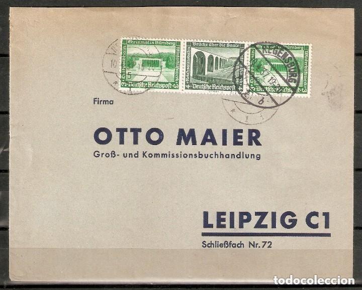 ALEMANIA IMPERIO.1937. REGENSBURG. SOBRE COMERCIAL FRANQUEADO MI. W 120 (Sellos - Extranjero - Europa - Alemania)
