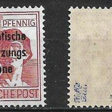 Sellos: ALLGEMEINE AUSGABEN 1948 MICHEL 195 G - BPP ** MNH - 21/6. Lote 244633565