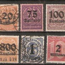 Timbres: ALEMANIA IMPERIO. 1923. SERVICIO. YT 37/47. Lote 244713480