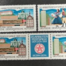 Sellos: ALEMANIA DDR 1984. ***MNH. SERIE FESTIVAL OF THE GDR WORKERS, BEZIRK GERA. Lote 244753075