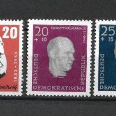 Sellos: DDR 1957 MICHEL 604/605 + 606A/608A ** MNH - 4/6. Lote 244945295
