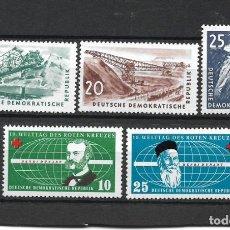 Sellos: DDR 1957 MICHEL 569/571 + 572/573 ** MNH - 4/5. Lote 244946330
