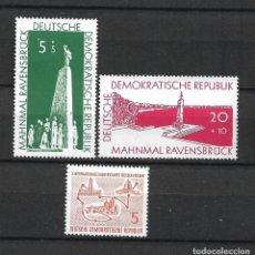 Sellos: DDR 1957 MICHEL 566/567 + 568 ** MNH - 4/5. Lote 244946395
