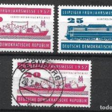 Sellos: DDR 1957 MICHEL 559/560 ** MNH + USADO - 4/5. Lote 244946530