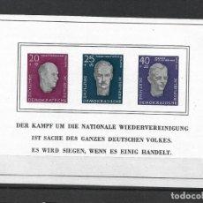 Sellos: DDR 1958 BLOCK 15 ** MNH - 187. Lote 244946640